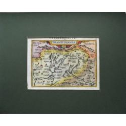 Erdély térképe 1598, Ortelius