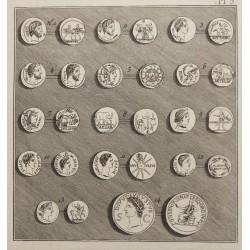 J.Eckhel: Antik római érmék  rézmetszeten / 1799 buda