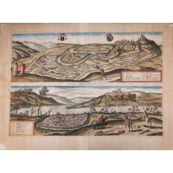 Esztergom látképe 1597 Hogenberg/Houfnagel