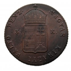 Szabadságharc 3 krajcár 1849 N-B