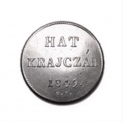 Szabadságharc 6 krajcár N-B 1849