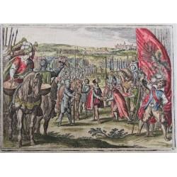 Rudolf átadja II. Mátyás főhercegnek a Magyar Szent Koronát