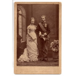 Stefánia belga királyi hercegnő és Habsburg Rudolf főherceg esküvői fotográfiája