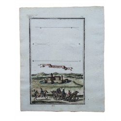 Rozgony  látképe /1689 rézmetszet/