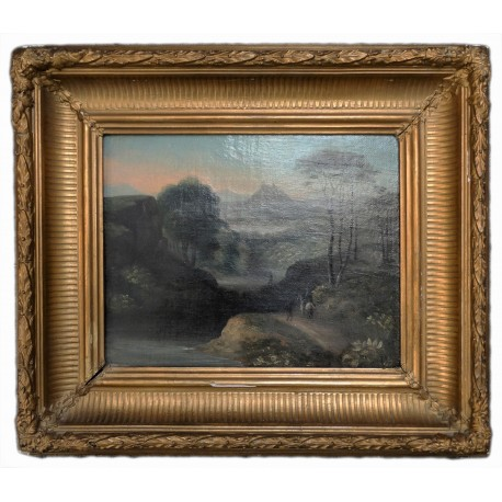 Anthony Vandyke Copley Fielding: Tájkép 1840 körül ,olaj vászon.
