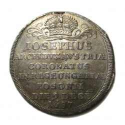 I. József  koronázási zseton 1687 Pozsony