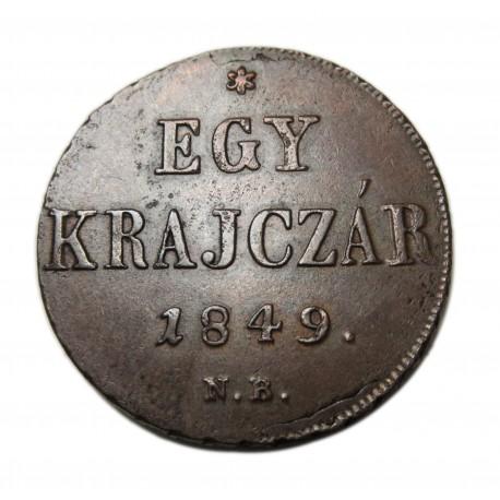 Szabadságharc 1krajcár N-B 1849