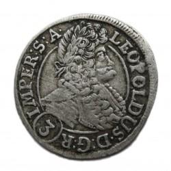 I. Lipót 1696 Prága 3 krajcár