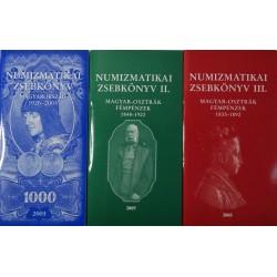 Farkas György: Numizmatikai Zsebkönyv I. II. III.