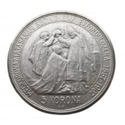 I. Ferenc József 5 korona UTÁNVERET 1907