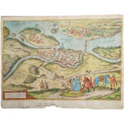 Houfnagel:Győr látképének metszete 1597