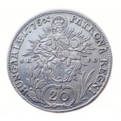 Mária Terézia 20 krajcár 1775 K-B