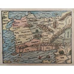 Sebastian Münster :Kis-Ázsia térképe 1574 Bázel
