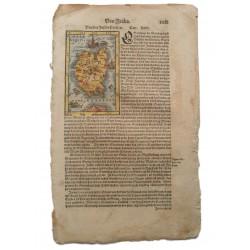 Sebastian Münster : Corsica  térképe 1574 Bázel