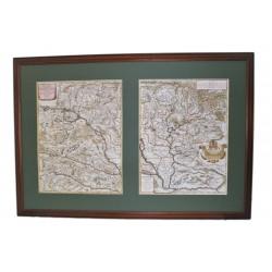 G.G. Rossi :Magyarország kétrészes térképe 1683,