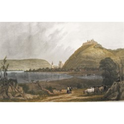 Visegrád látképe 1860 Rohbock L.
