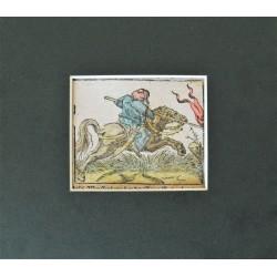 Török lovas katona ábrázolása - Basel 1574