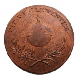 Karolina Augusta bronz koronázási  zseton próbaveret  1825 Pozsony