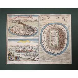 G.G. Rossi: Szentjobb és Munkács 1686-os látképei  RITKASÁG!