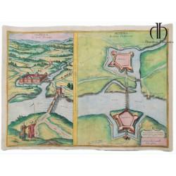 Petrina látképe és alaprajza 1618 Hogenberg/Houfnagel