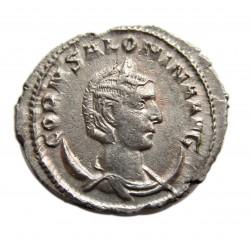 Salonina Antoninian rev: Vesta RIC 39