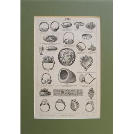 Meyers 1896 : Ó-kori és középkori gyűrűk metszeten