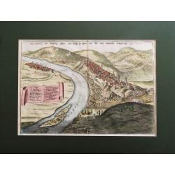 1691 , Merian: Buda és Pest madártávlati látképe