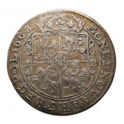 II. János Kázmér 1668 18 Groszy  Ort