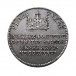 V. Ferdinánd Prága koronázási zseton 1836