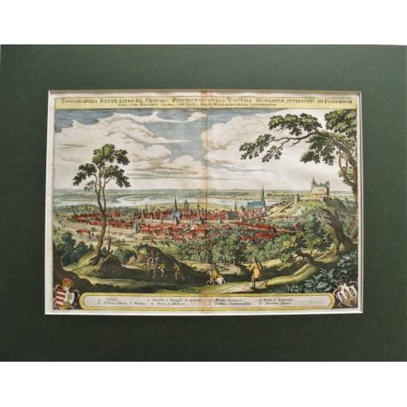 1638 , Merian: Pozsony madártávlati látképe