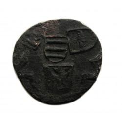 V. László dénár Éh.494k L felett korona -h Szeben