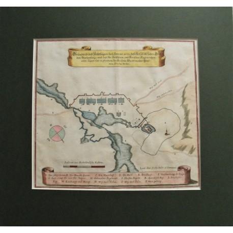 1663 Merian: Souches tábornok Szerencs melletti tábora 1663-ban