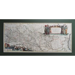 Willem Blaeu  : Duna  térképe.1643
