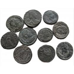10 db római kisbronz