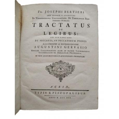 1791 .J. Bertieri  :Tractatus de Legibus