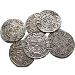 6 db I. Ferdinánd denar 1534-35-36-37-38-39.