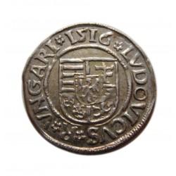II. Lajos dénár (1516) K-G  Éh:673