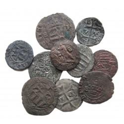 10 db vegyesházi denár 1387-1516