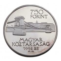 Budapest egyesítéséenk 125 éves évfordulója 750 Forint